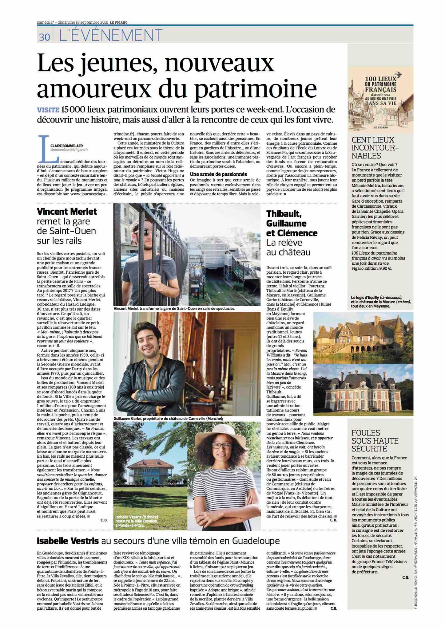 Article dans le Figaro